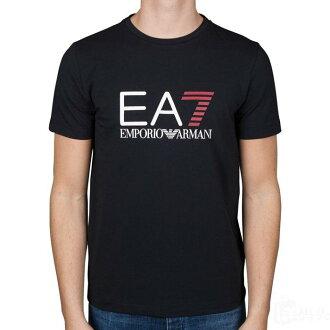 美國百分百【全新真品】Emporio Armani EA7 短袖 T恤 logo T-shirt 黑色 S號 H830