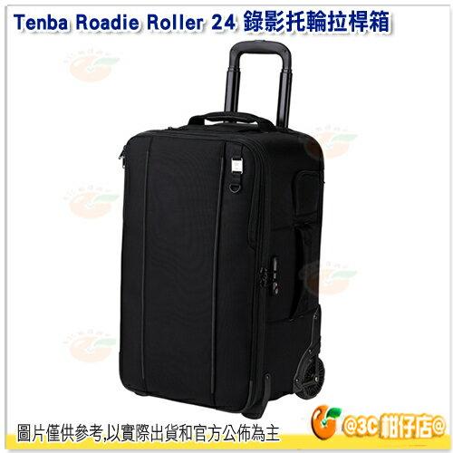 TenbaRoadieRoller24錄影托輪拉桿箱黑638-714公司貨17吋平板iPad行李箱拉桿箱滾輪