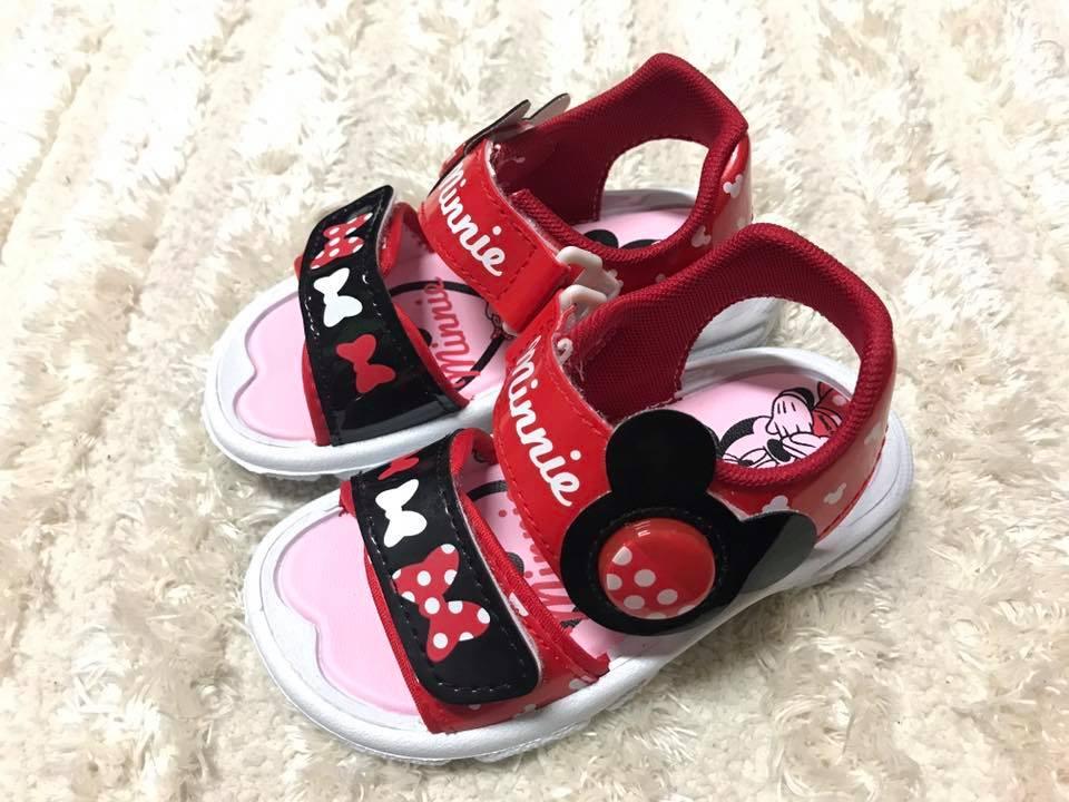 ~Jolove~卡通童鞋  DISNEY迪士尼  米妮輕便電燈涼鞋463804 紅色