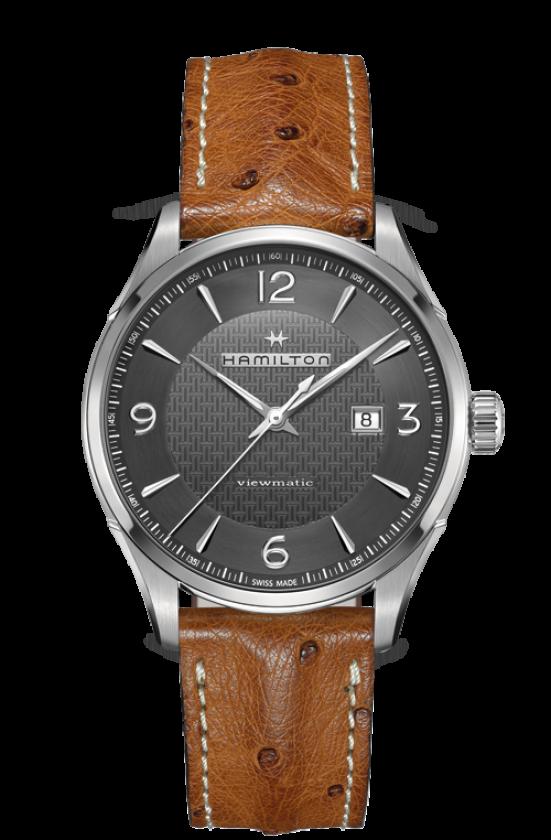 清水鐘錶 Hamilton 漢米爾頓 JazzMaster 紳士自動上鍊機械腕錶 H32755851 黑 咖啡 44mm
