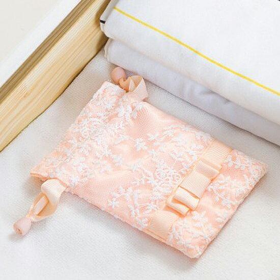♚MY COLOR♚滿版蕾絲抽繩束口袋(小) 緞帶 旅行 收納 閨蜜 小物 便攜 隨身 衣物 分類【Z51】