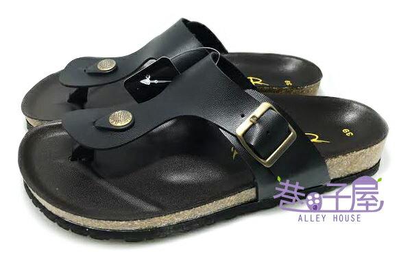 【巷子屋】ROOSTER公雞 男款經典勃肯夾腳拖鞋 [8002] 黑 MIT台灣製造 超值價$198