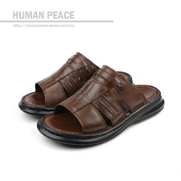 HUMAN PEACE 拖鞋 咖啡色 男鞋 no278
