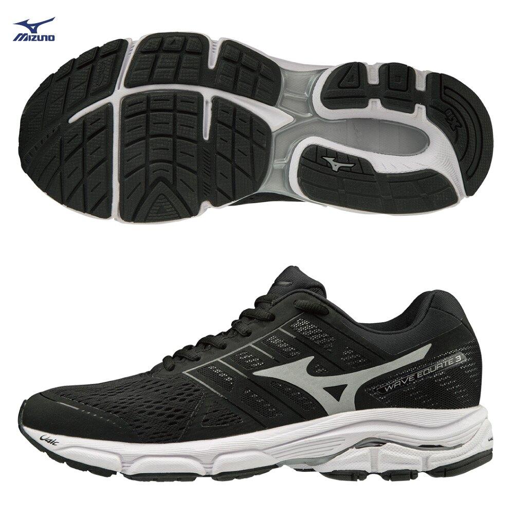 MIZUNO WAVE EQUATE 3 男鞋 慢跑 路跑 支撐型 避震 耐磨 穩定 舒適 黑 白【運動世界】J1GC194804