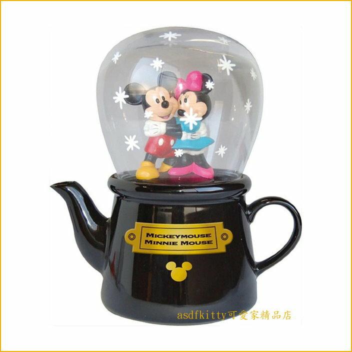 asdfkitty可愛家~迪士尼米奇米妮陶瓷杯壺組 下午茶組 茶壺跟玻璃杯~附瀘網~