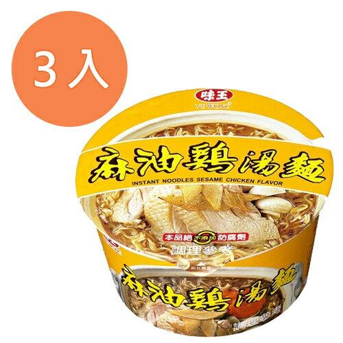 味王 麻油雞湯麵 85g (3碗入)/組