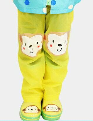 Kocotree◆ 時尚可愛防水小花猴子機器人卡通腳套過膝雨鞋套兒童腿套-黃色X機器人