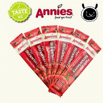 【壽滿趣- 紐西蘭原裝進口】Annies 全天然水果條(草莓6盒, 36片家庭裝) 2