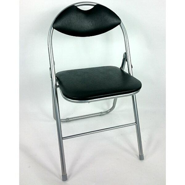 BROTHER兄弟牌卡羅有背折疊椅(黑色)6入