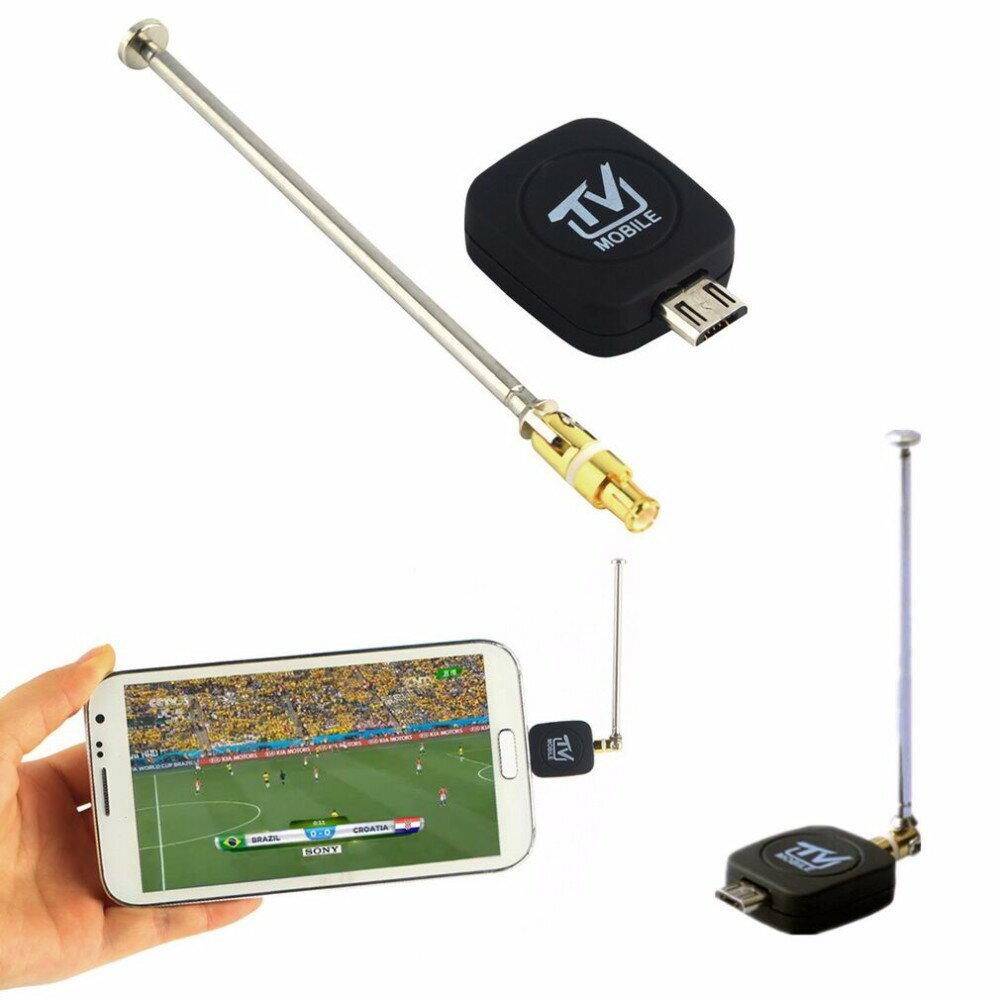 高品質迷你微型 行動數位電視棒 USB DVB-T 電視調諧器接收器Android 4.0-5.0