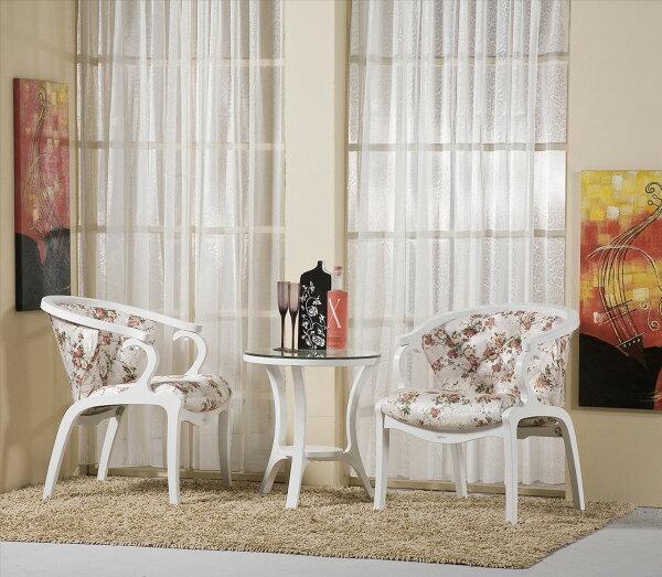 【石川家居】YE-A277-05維多莉雅白色休閒椅(拉釦)(單張)(不含其他商品)台北到高雄搭配車趟免運