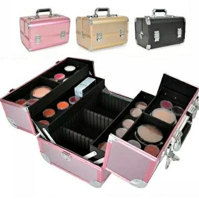 化妝箱 隨身收納盒-多隔層鋁合金手提美妝美甲專業工具箱3色73d35【獨家進口】【米蘭精品】