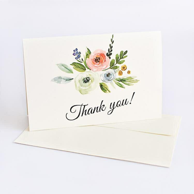 帶信封創意感謝卡高檔生日diy禮物賀卡小卡片手工精致明信片