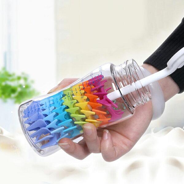 彩虹橡膠杯刷奶瓶刷保溫杯刷杯刷SINF6695