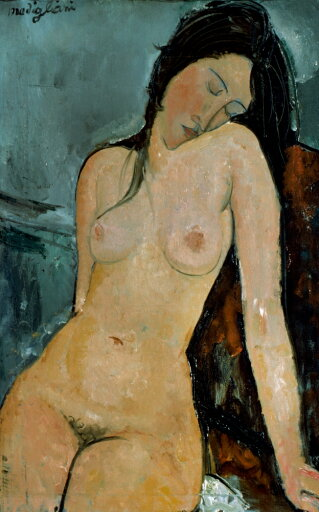 Modigliani Nude C1917 Noil On Canvas By Amedeo Modigliani C1917 Poster Print by (18 x 24) 28bb7f2bad7863990df2c09dcd2966dc