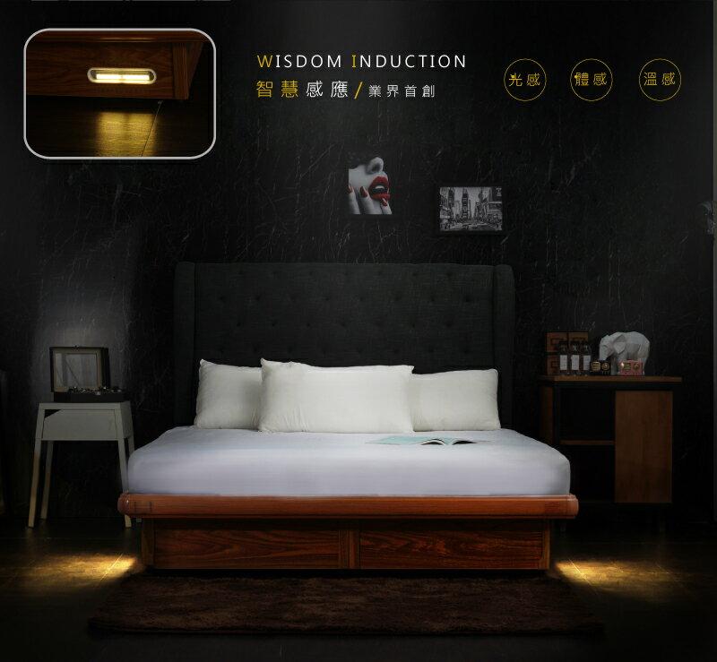 掀床 / 收納床架 / 專利安全 專利智能掀床 人體感應LED 投保8400萬安全裝置 3.5尺單人  /  5尺雙人  /  6尺雙人加大 安全掀床 【YUDA】 3