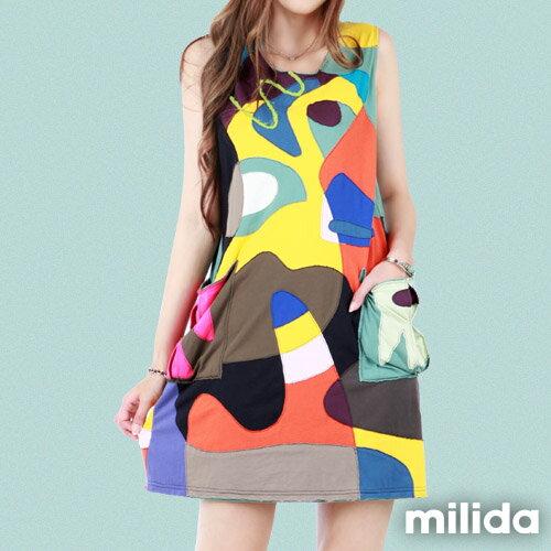 【Milida,全店七折免運】無袖大口袋可愛洋裝 6