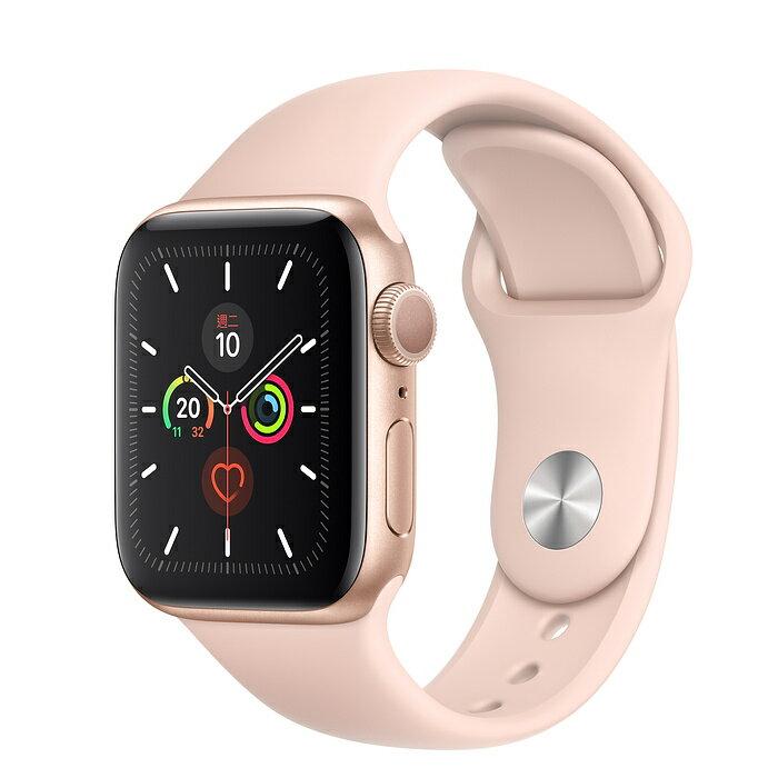 Apple Watch S5 44mm 金色鋁金屬錶殼搭配粉沙色運動型錶帶 (GPS) 佳成數位 0