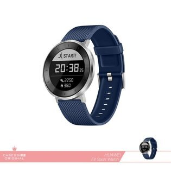 HUAWEI華為原廠FIT運動版智慧手錶_藍錶帶(送立體聲藍牙耳機)