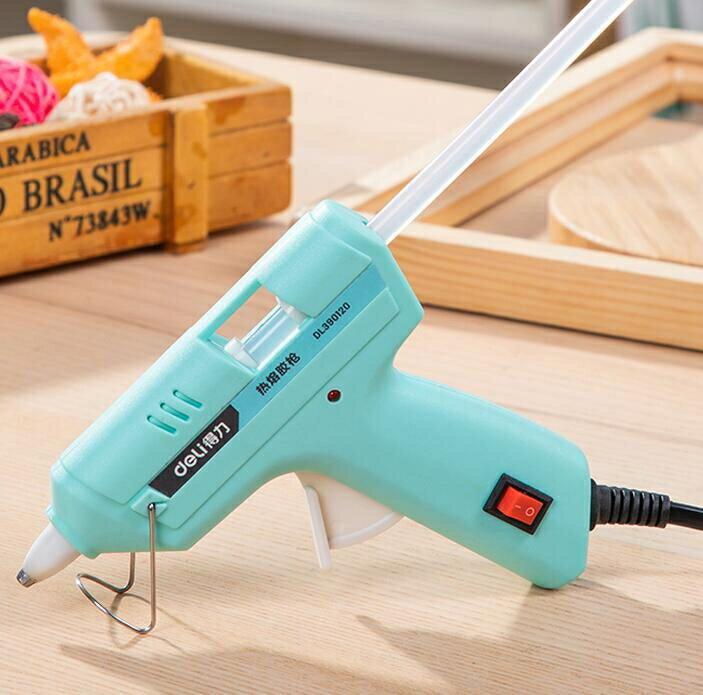熱熔膠槍 得力工具熱熔膠槍幼兒園小膠槍兒童手工制作家用高粘強力膠棒熱