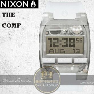 NIXON 實體店The COMP浪花潮流腕錶ALL WHITE公司貨A408-126/極限運動