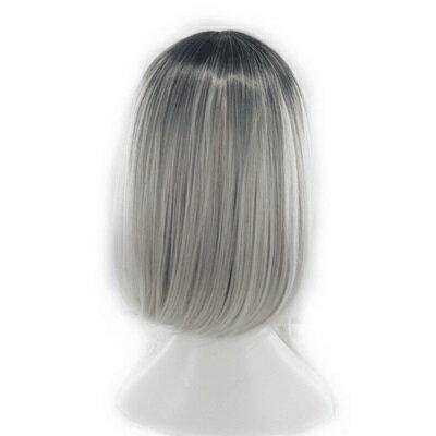 ★短假髮整頂假髮-齊肩中分漸層染髮短直髮女假髮73rr56【獨家進口】【米蘭精品】 2