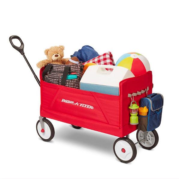 【奇買親子購物網】美國RadioFlyer摺學家三合一折疊旅行拖車