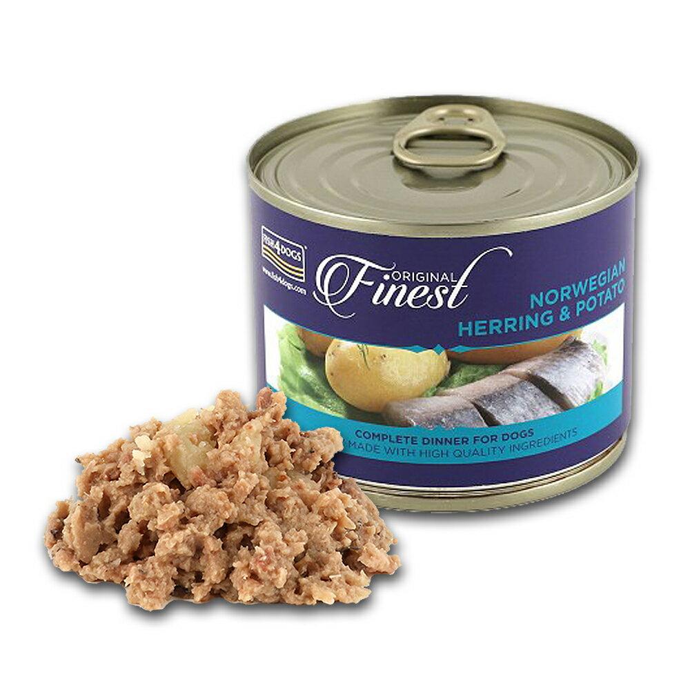 【海洋之星FISH4DOGS】挪威鯡魚馬鈴薯主食犬罐(185g/罐)