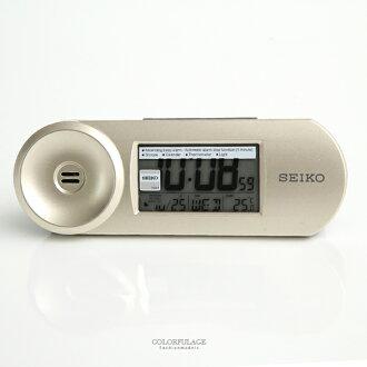 鬧鐘 SEIKO香檳金話筒造型鬧鐘【NV13】柒彩年代