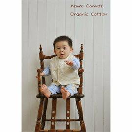 【淘氣寶寶】⊙藍天畫布⊙100%有機棉嬰幼兒鋪棉背心70cm90cm,超細纖維鋪棉,輕薄保暖,台灣織造