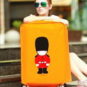 美麗大街【BF405E7】SAFEBET高檔加厚防水行李箱套防塵罩(英倫風20寸)
