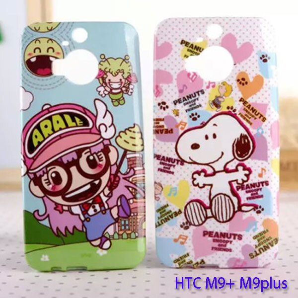HTC M9+珠光閃粉殼ONE M9Plus卡通手機殼M9+保護套 史迪奇TPU外殼