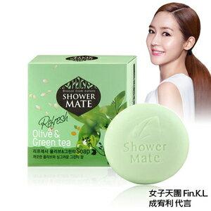韓國 HERASYS 可瑞絲 Shower Mate 清新橄欖 綠茶精油香皂 100g ☆真愛香水★