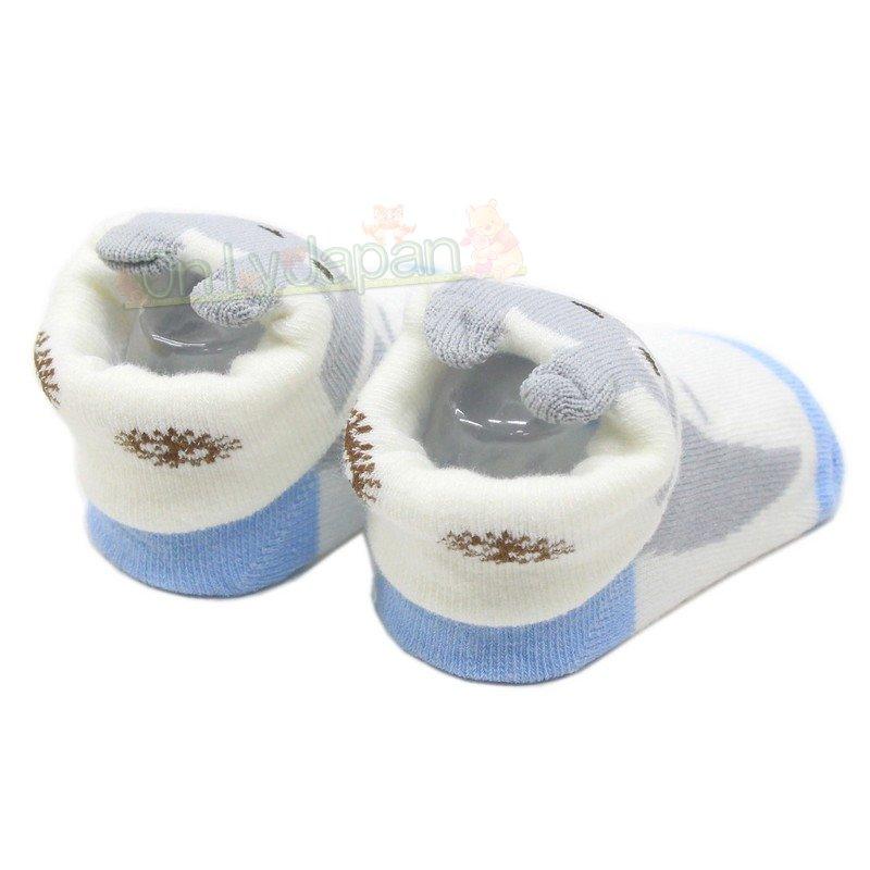 嬰幼兒造型襪子 灰龍貓 龍貓totoro 宮崎駿 嬰幼兒小童寶寶襪子 睡眠襪 嬰幼兒寶寶地板襪子 真愛日本