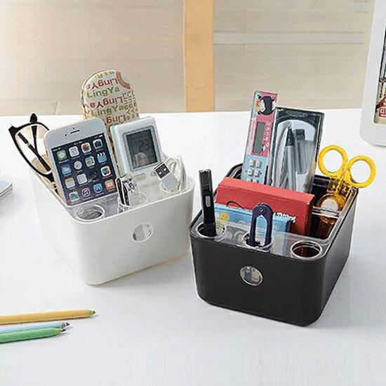 ♚MY COLOR♚簡約多功能桌面收納盒 可拆 整理 桌面 雜物 儲物 居家 客廳 廚房 衛浴【X44】