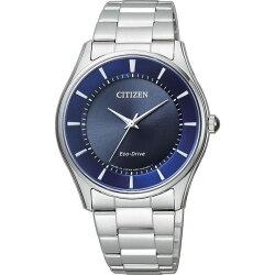 CITIZEN星辰錶 BJ6480-51L +EM0400-51L 簡約時尚光動能對錶/藍37.2+28mm