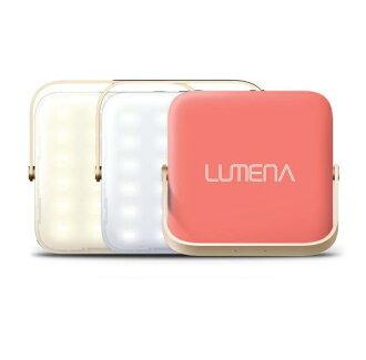 N9 LUMENA 行動電源LED照明燈-三色溫 露營燈/行動充電/行動電源- 小 珊瑚粉 送燈罩