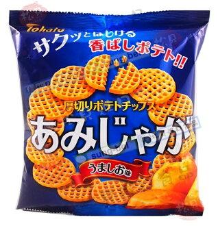東鳩厚切網狀洋芋片(鹽)60g【4901940034956】