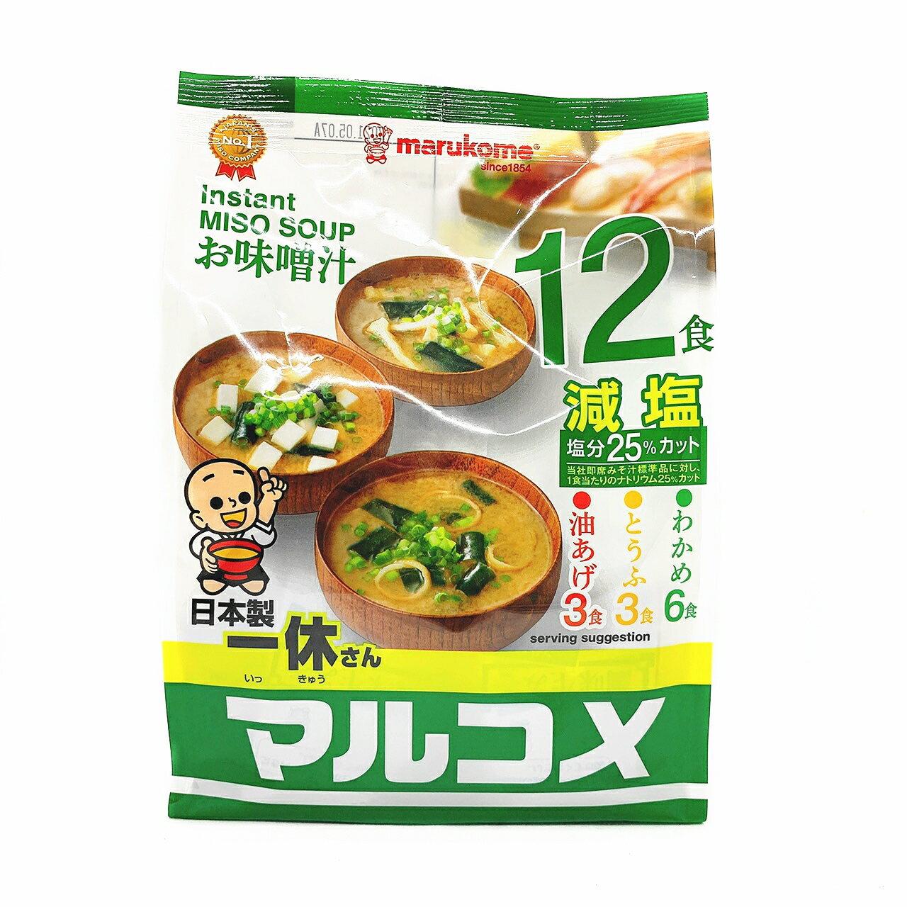 《花木馬》一休即食味噌湯 12入 沖泡味噌湯 味噌