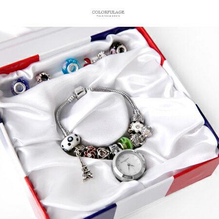 Valentino范倫鐵諾 珍珠貝面精緻串珠手鍊手錶腕錶 隨心情任意配搭 柒彩年代【NE1830】原廠 - 限時優惠好康折扣