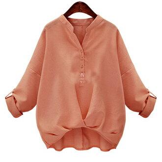 假口袋竹節棉長袖上衣(3色)