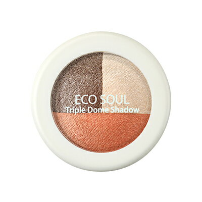 【即期良品】韓國the SAEM Eco Soul 三色眼影盤-6.5g Eco Soul Triple Dome Shadow【辰湘國際】 6