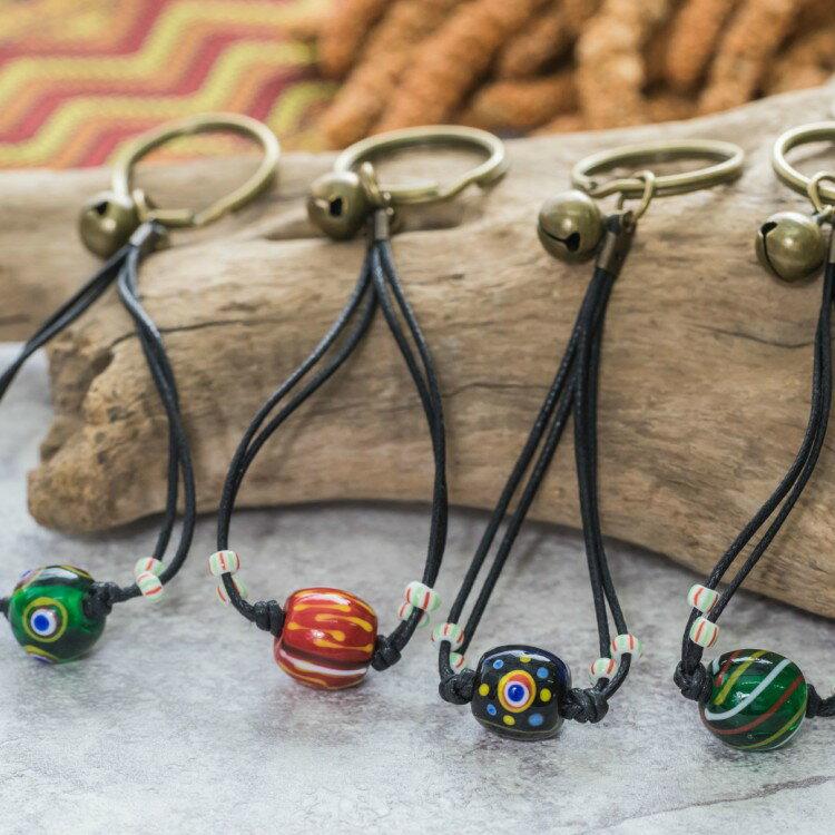 原住民排灣族傳統圖騰琉璃珠飾品 ~傳說 鑰匙圈