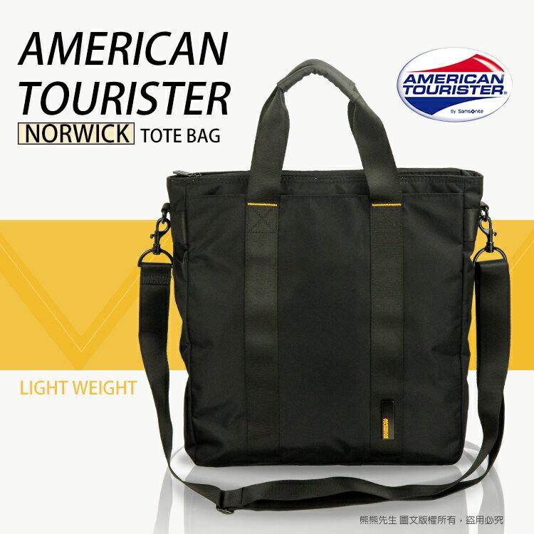 《熊熊先生》新秀麗 Samsonite 美國旅行者 94S004 直立式筆電托特包 兩用 肩背包 側背包 附可拆式背帶 NORWICK系列