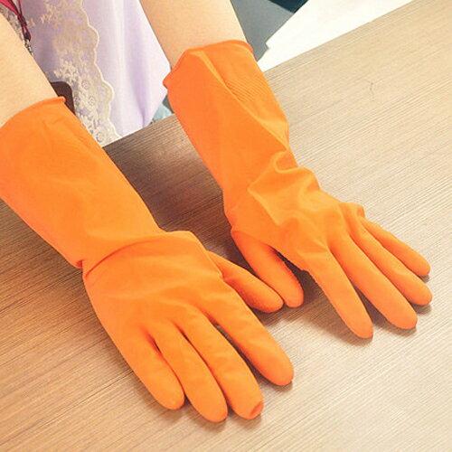 PS Mall 薄款洗碗洗衣手套 防滑橡膠手套【J1967】 1
