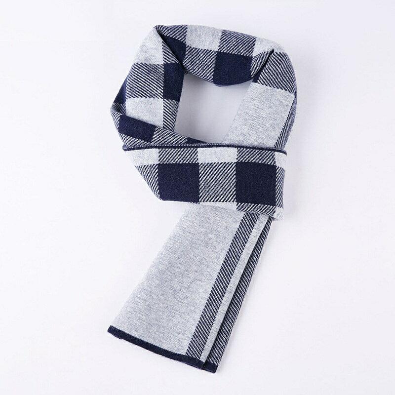 圍巾羊毛披肩-針織拼色格紋商務男配件6款73wh63【獨家進口】【米蘭精品】
