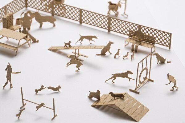 【寺田模型】建築紙模型狗狗手作DIY交換禮物