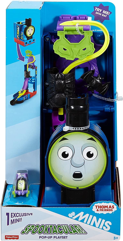迷你湯瑪士-俯衝軌道遊戲組 蝙蝠款 海盜款 Thomas and Friends Minis Spooktacular