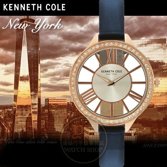 KennethCole國際品牌時尚回歸華麗晶鑽鏤空腕錶KC50184001公司貨禮物精品