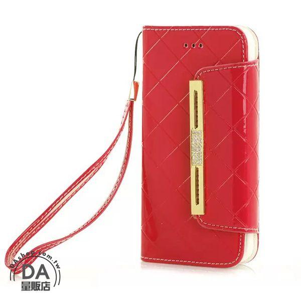 《DA量販店》Apple iphone6 4.7吋 亮面 手提 掛繩 皮套 保護套 手機套 紅色(80-1203)